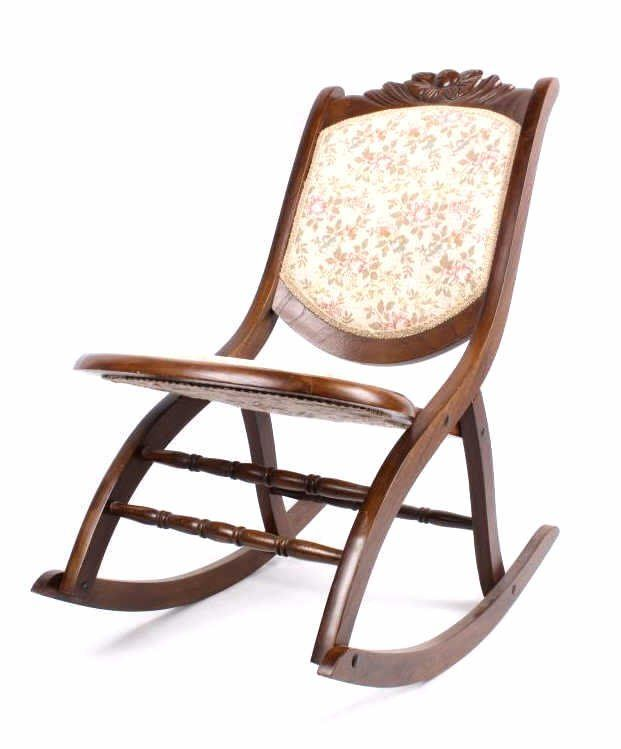 image of: antique carved folding rocking chair | home decor