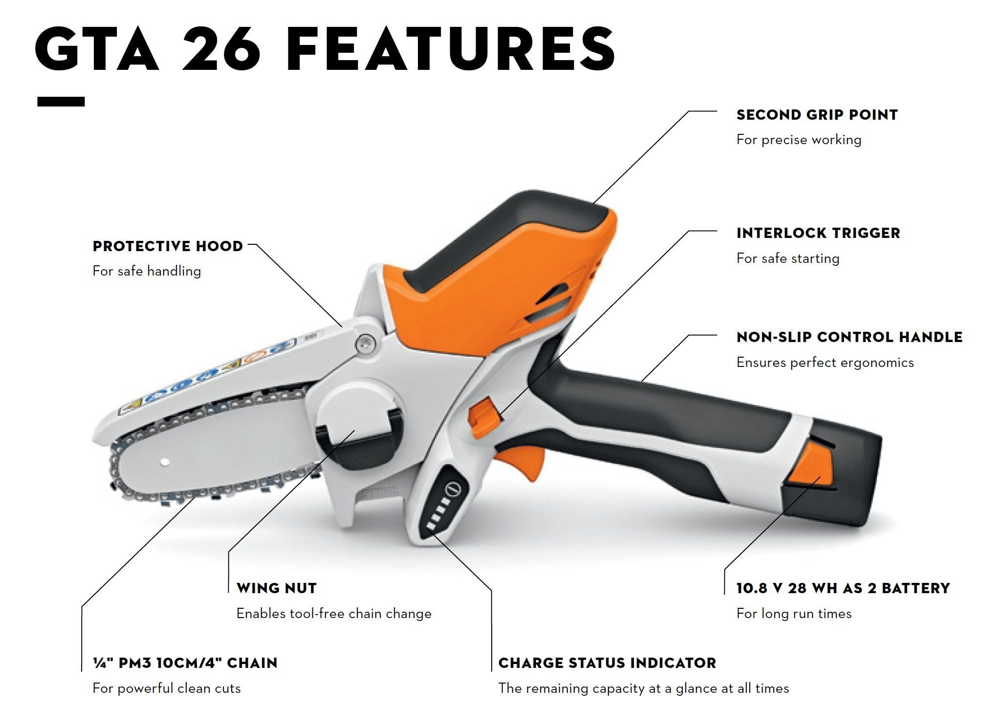 2020 Hot Selling Gta 26 Battery Powered Wood Cutter Wemytic Wood Cutter Mini Chainsaw Pruners