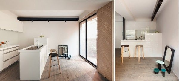 The minimalist kitchen design gives full functionality for cooking - Efficiency Apartment Design