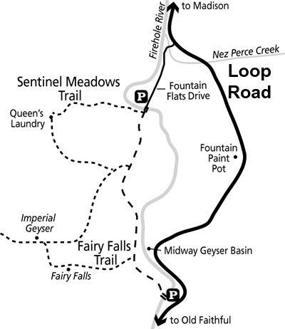 Fairy Falls Imperial Geyser Queen S Laundry Trail Map Nps Image Yellowstone Trip Yellowstone National Park Yellowstone Map