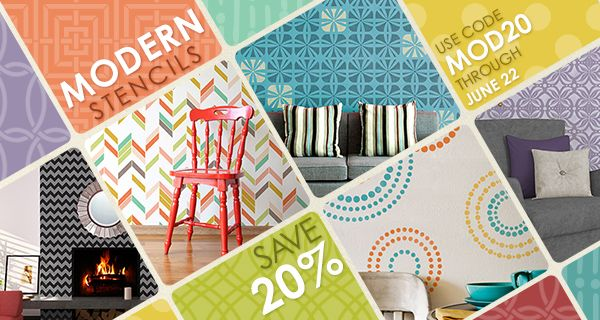 Inspiration for Stencils, Stenciling, Patterns and DIY Home Decor | Royal Design Studio