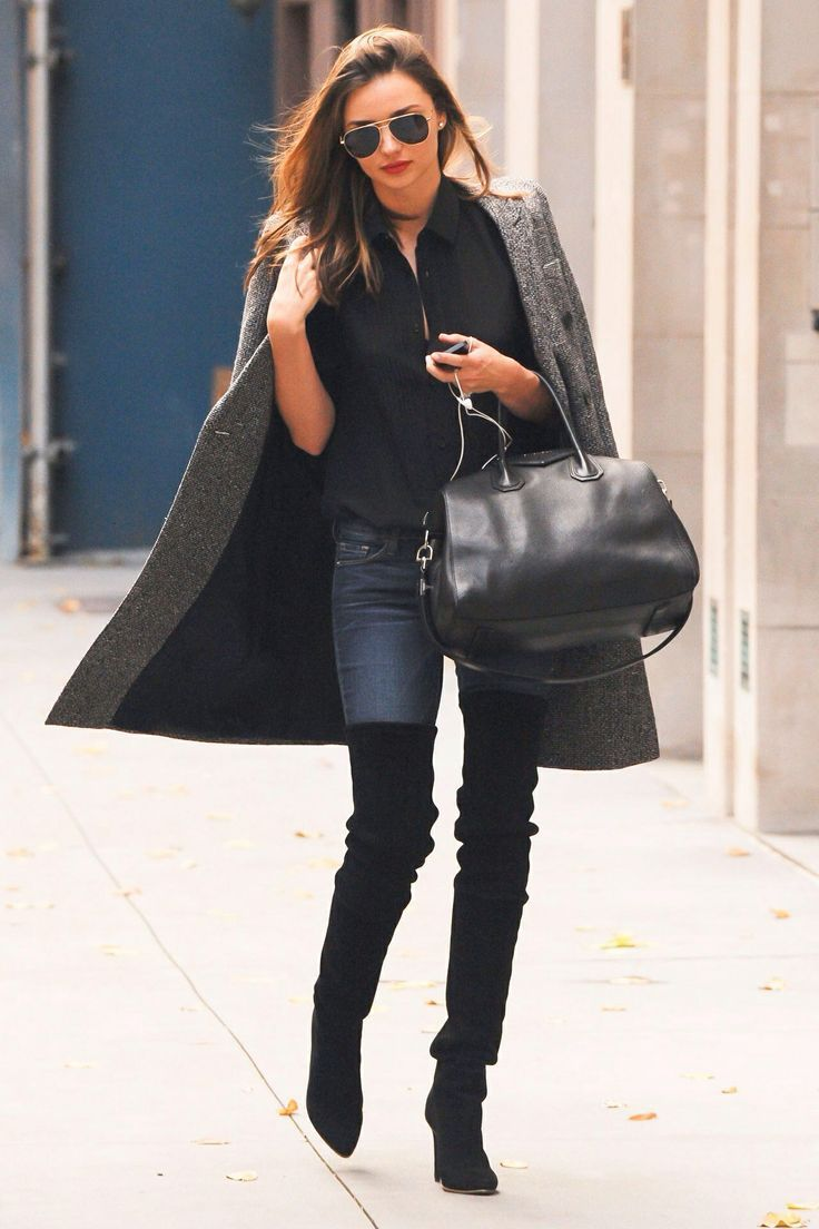 Black Over Knee Boots Street Style Ideas 5 - pictures, photos ...
