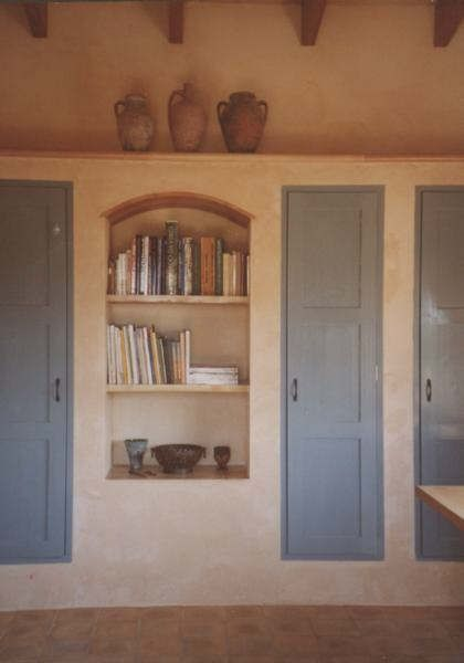 Küche gemauerte Regale, Raum für Kochbücher, Kühlschrank - regale für küche