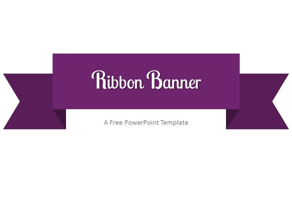 Free purple ribbon banner powerpoint template clean powerpoint free purple ribbon banner powerpoint template toneelgroepblik Image collections