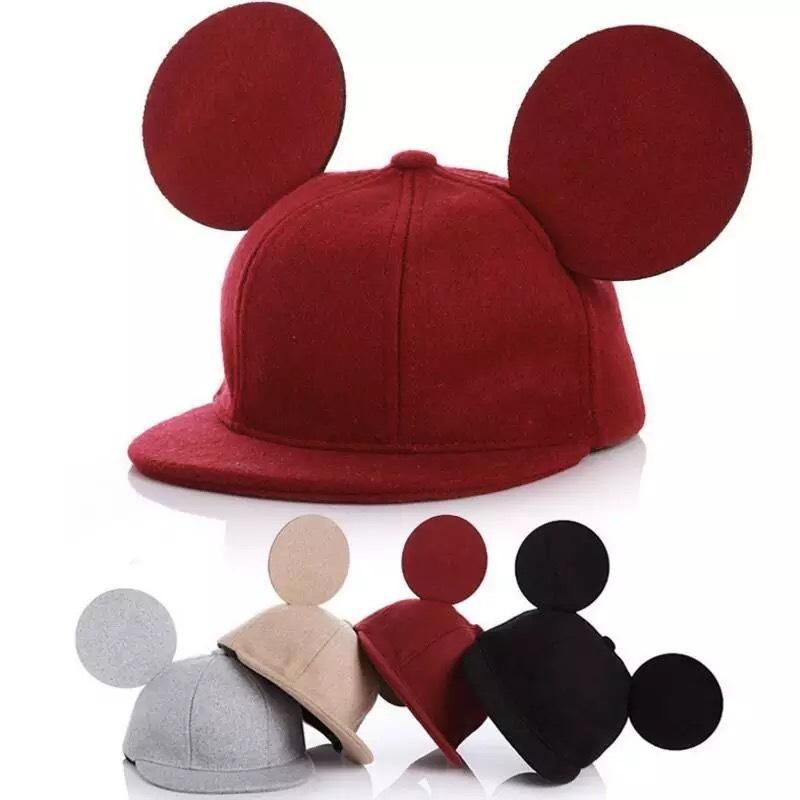 d1611d71daca3 Stereo Ears Woolen Mouse Ear Children Cap Mouse Ears Cute Hat for Girls Boys