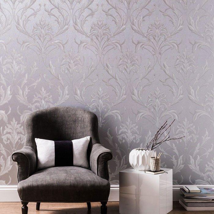 Oxford Silver Grey Grey Wallpaper Living Room Grey Wallpaper Silver Grey Wallpaper