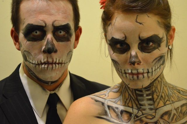 Zombie boy inspired halloween make up skeleton halloween 90 best images about skull makeup on rick genest ideas and sugar skull makeup do it yourself the half dead gentleman modified image of a man wearing half solutioingenieria Choice Image