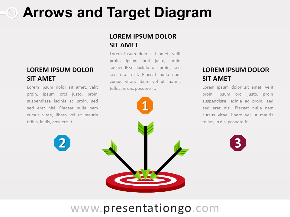 Free Arrows And Target Powerpoint Diagram  Powerpoint Diagrams