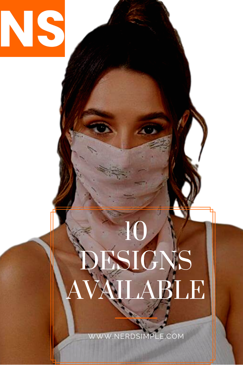 Stay Trendy This SUMMER. 2In1 Face Scarf. Wear it as a