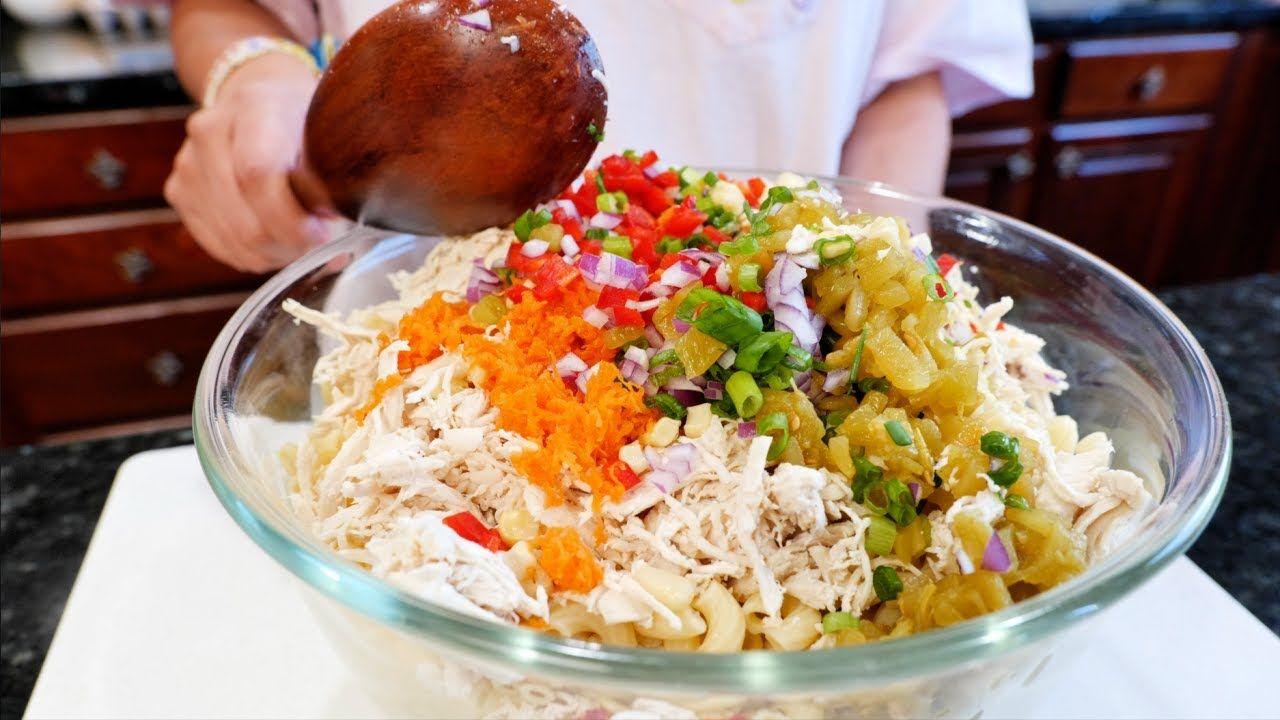 Color Wheel Chicken Macaroni Pasta Salad Sumer Salad Recipe Youtube In 2020 Macaroni Pasta Salad Macaroni Pasta Salad Recipes