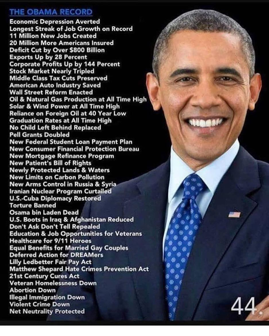 Just a little list of accomplishments.. something tRump ...