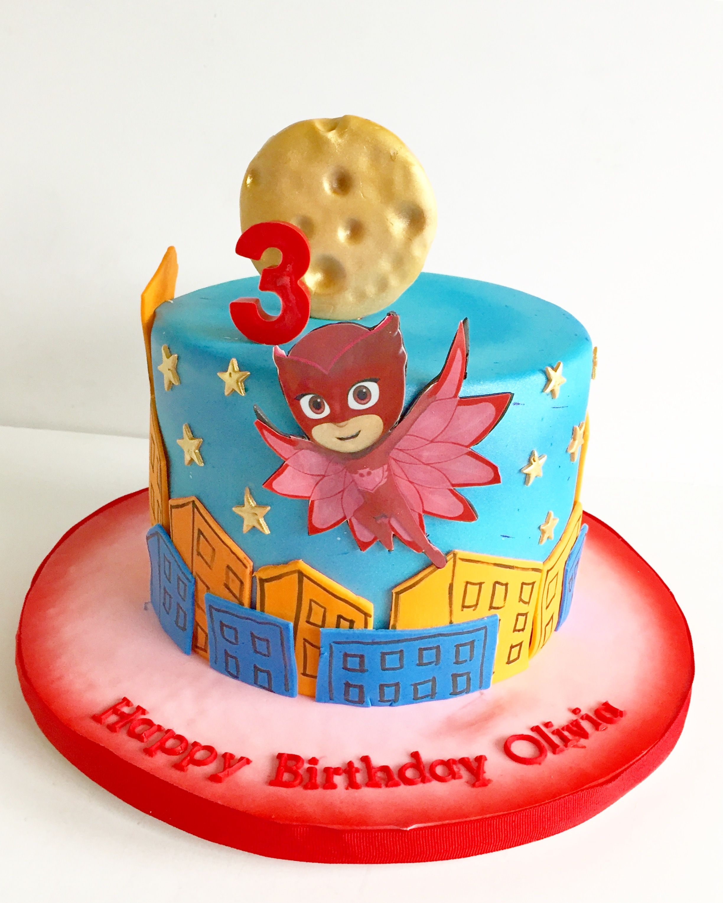Owlette cake sanduches baby shower pasteles para ni os - Bizcocho cumpleanos para ninos ...