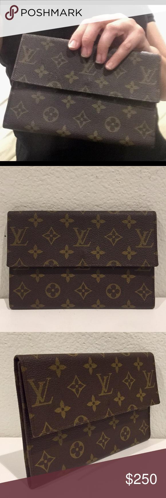 Louis Vuitton Vintage Monogram Envelope Clutch Vintage Louis Vuitton Louis Vuitton Vintage Monogram