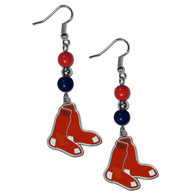 Boston Red Sox Bead Dangle Earrings
