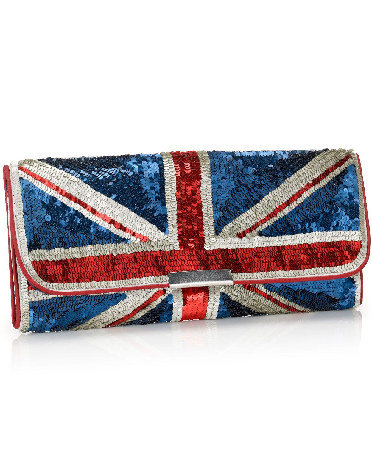 823165311e Union Jack Sequin Clutch | Accessorize | Weddings | Clutch bag ...