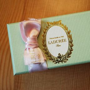 how some girls feel about getting little blue tiffany boxes is how i feel about getting little green laduree boxes :)