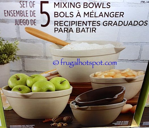 Set of 5 Mixing Bowls. #Costco #FrugalHotspot