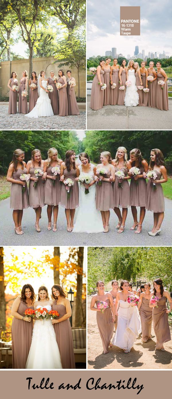 top 10 fall wedding colors from pantone for bridesmaid