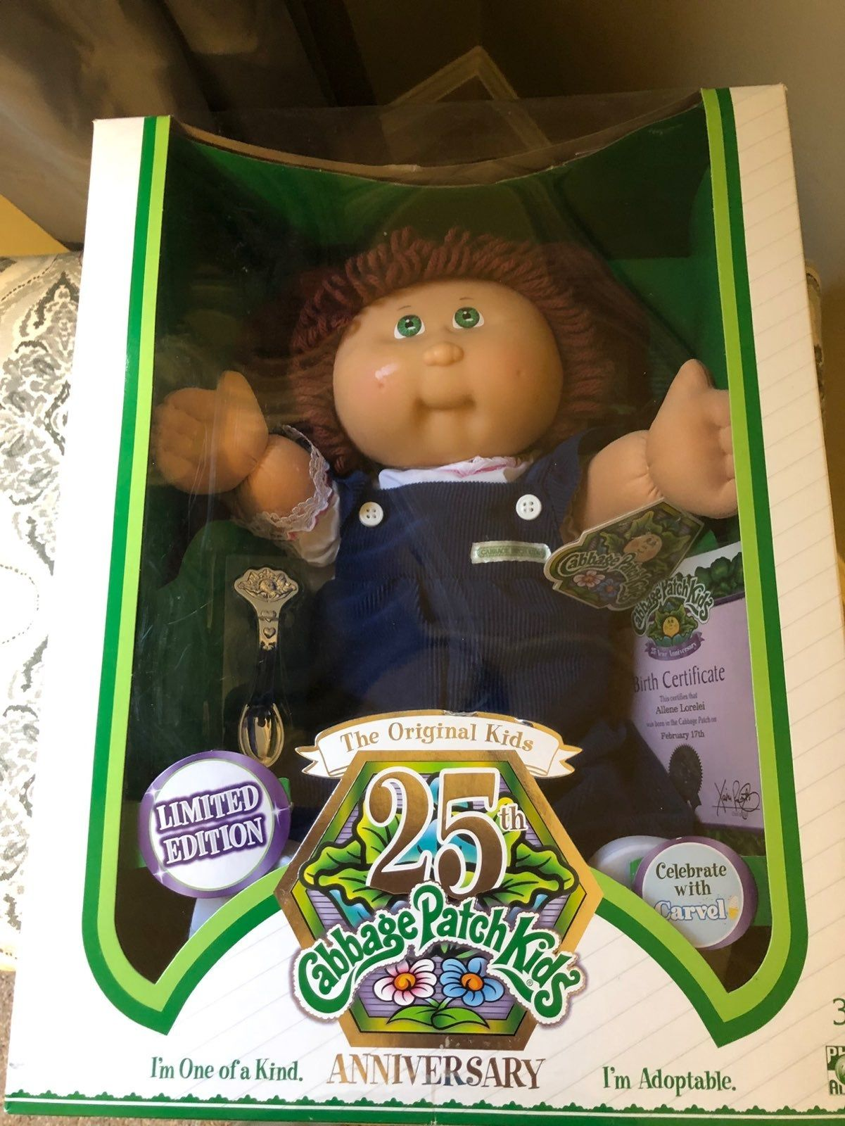 Brand New 25th Anniversary Cabbage Patch Red Head Never Out Of Box Grab A Piece Of Nostalgia In Mint Box Cabbage Patch Babies Cabbage Patch Kids Cabbage Patch
