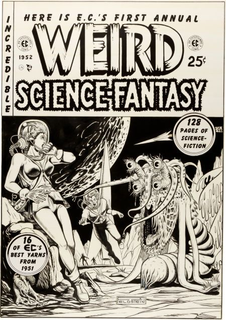 Perfekt Original Comic Art:Covers, Al Feldstein Weird Science Fantasy Image #1