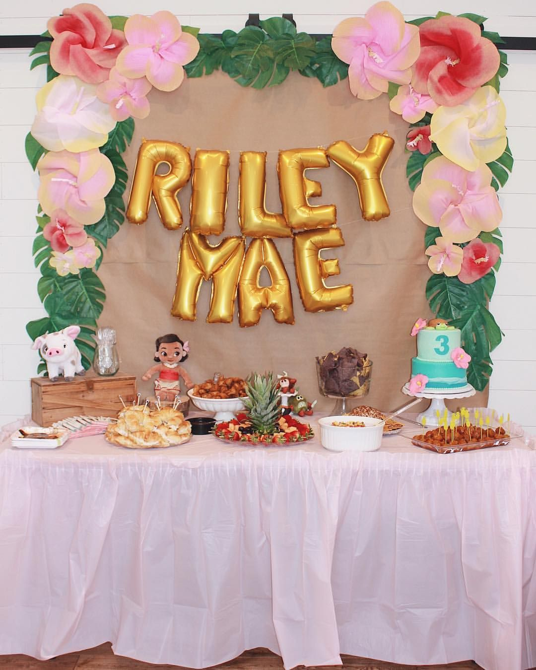 BLOGGED Todays My Babys 4th Birthday And I Cant Believe Were Already Here Lasts Years Party This Is A Pic From Her Moana
