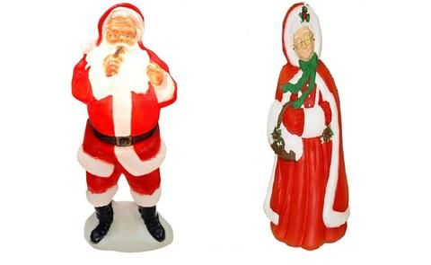 Mr  Mrs Santa Claus Outdoor/Indoor Light Up Yard Christmas