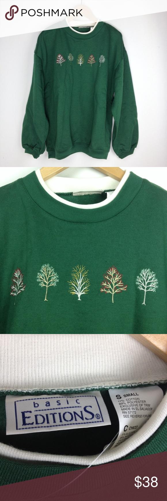 a0f8f1088c Basic editions green christmas sweatshirt sweater | My Posh Closet |  Pinterest | Sweaters, Sweatshirts and Closet