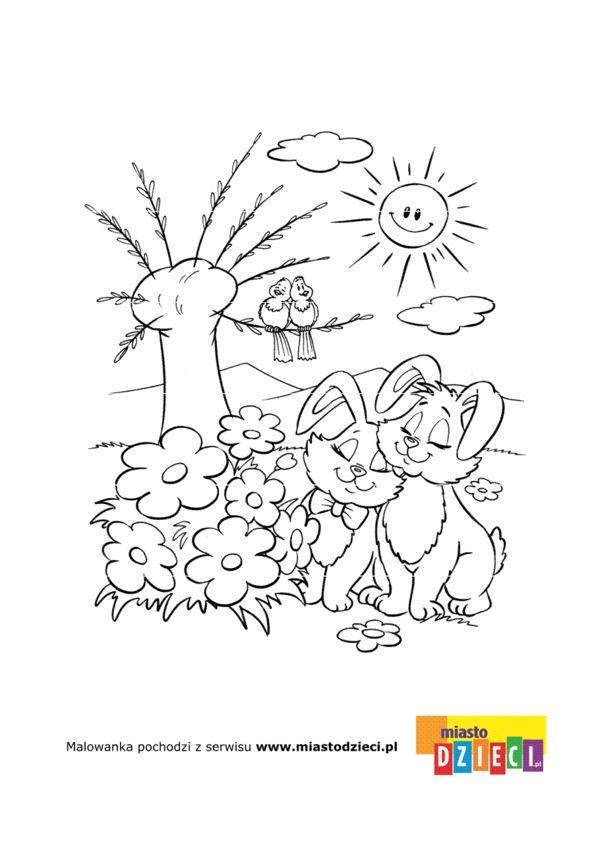 foto de Wiosna kolorowanki dla dzieci Easter coloring pages
