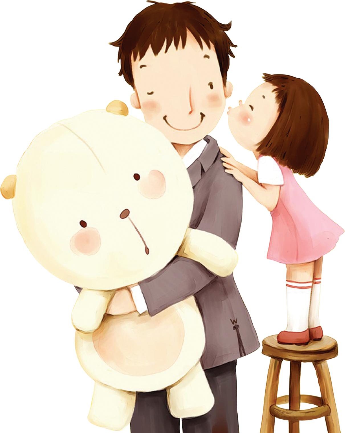 Сделать, папа с дочкой картинки для детей