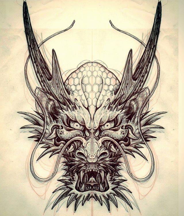 21 dragon tattoo sketch ideas