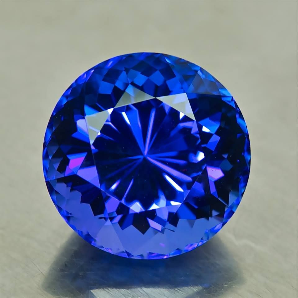 03604 - 6.40ct - Tanzanite. 11.20 x 8.40 mm standard heat, clean, Portuguese cut, $2875 shipped