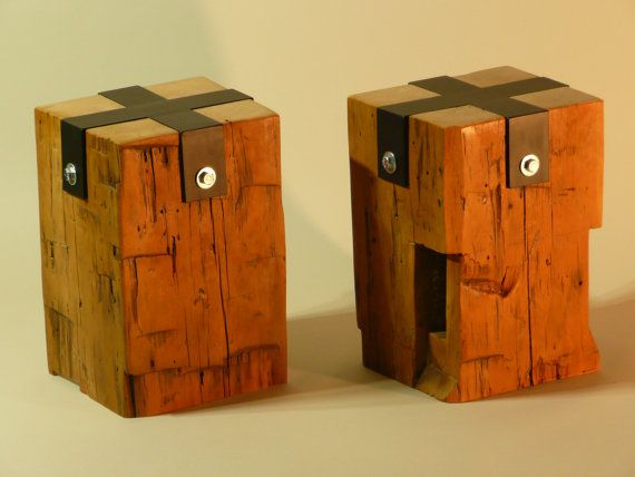 Barn Beam end tables by MidlandPointWoodshop on Etsy, $200 ...