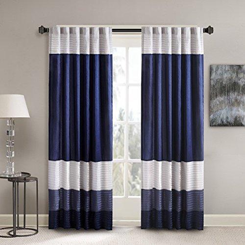 Stripes Pintuck Curtain Single Panel