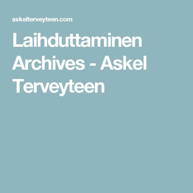 Laihduttaminen Archives - Askel Terveyteen