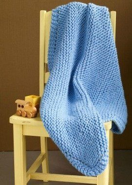 Easy Baby Blanket Knitting Pattern- Great Way to Start ...