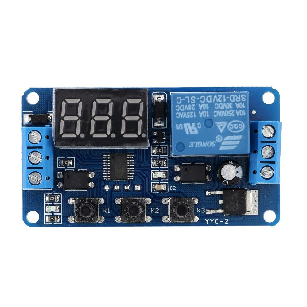 12v Led Automation Delay Timer Control Switch Relay Module With Case Arduino