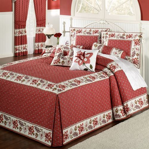 Chateau Rouge Oversized Fitted Bedspread Bedding Colcha Casal Queen Lencol De Casal Colcha Casal