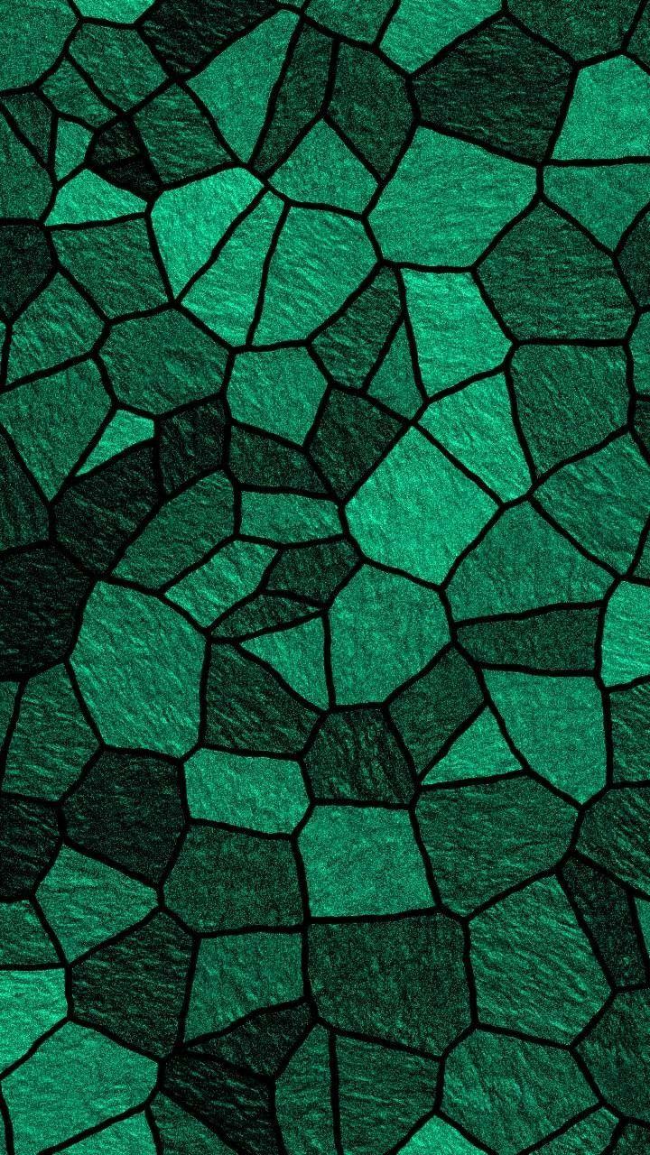 Green Mosaic Tile Pattern Wallpaper Patterns En 2019
