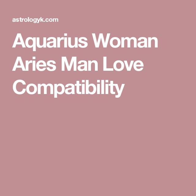 Aquarius Woman Hookup An Aries Man