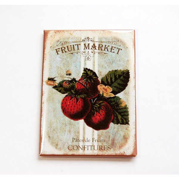Kitchen Magnet Fridge Magnet Strawberry Magnet Magnet Aceo Stocking... (£3.37) ❤ liked on Polyvore featuring home, home decor, office accessories, grey, home & living, kitchen & dining, kitchen décor, refrigerator magnets, magnets refrigerator and magnets fridge