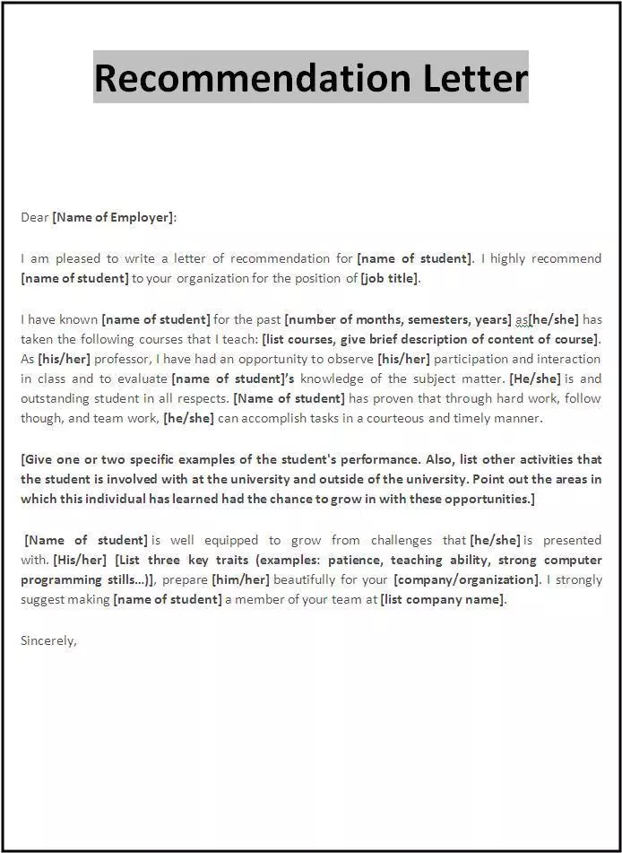 Letter Of Recommendation Sample Pdf from i.pinimg.com