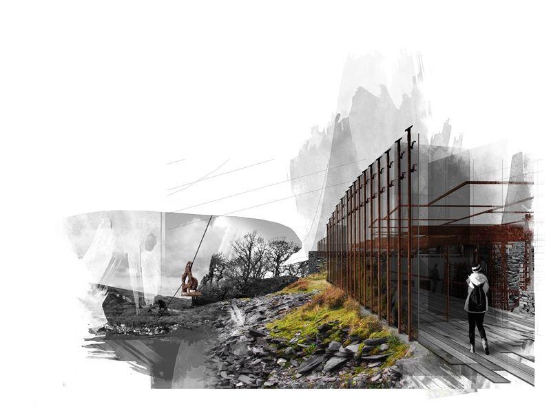 Anti Capitalist Retreat - Milo Ayden de Luca. Quick Collage Perspective Technique