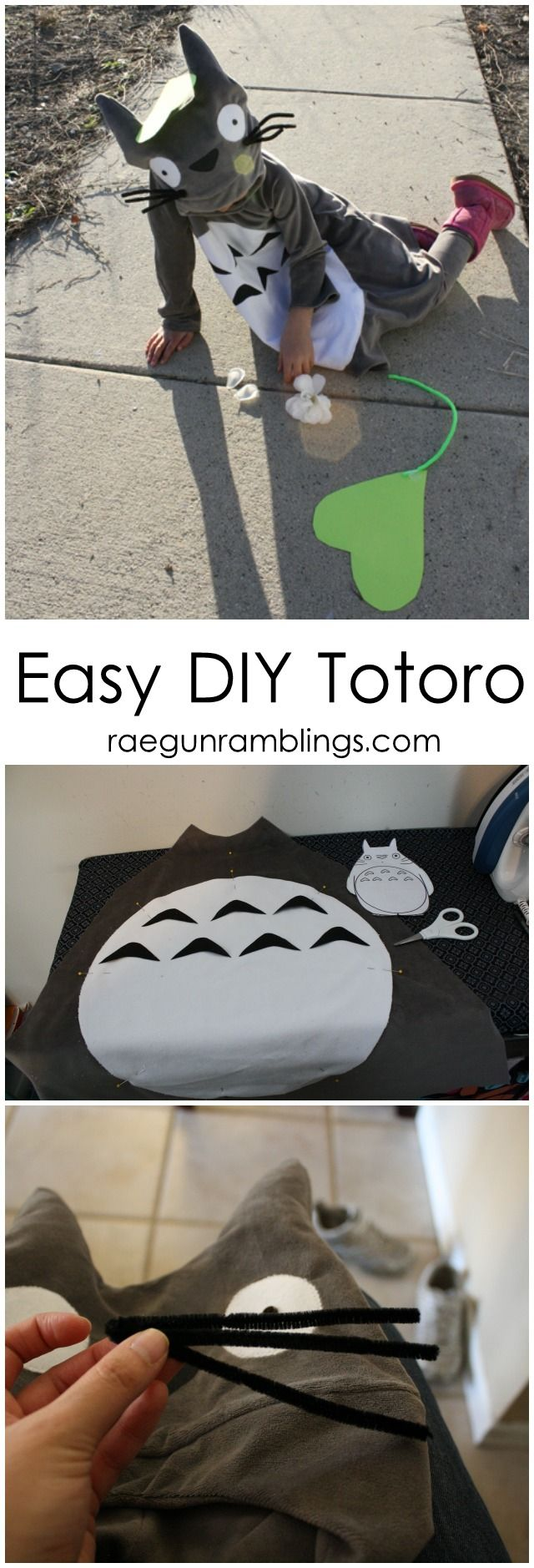 How to make a Totoro Halloween or Cosplay Costume - Rae Gun Ramblings