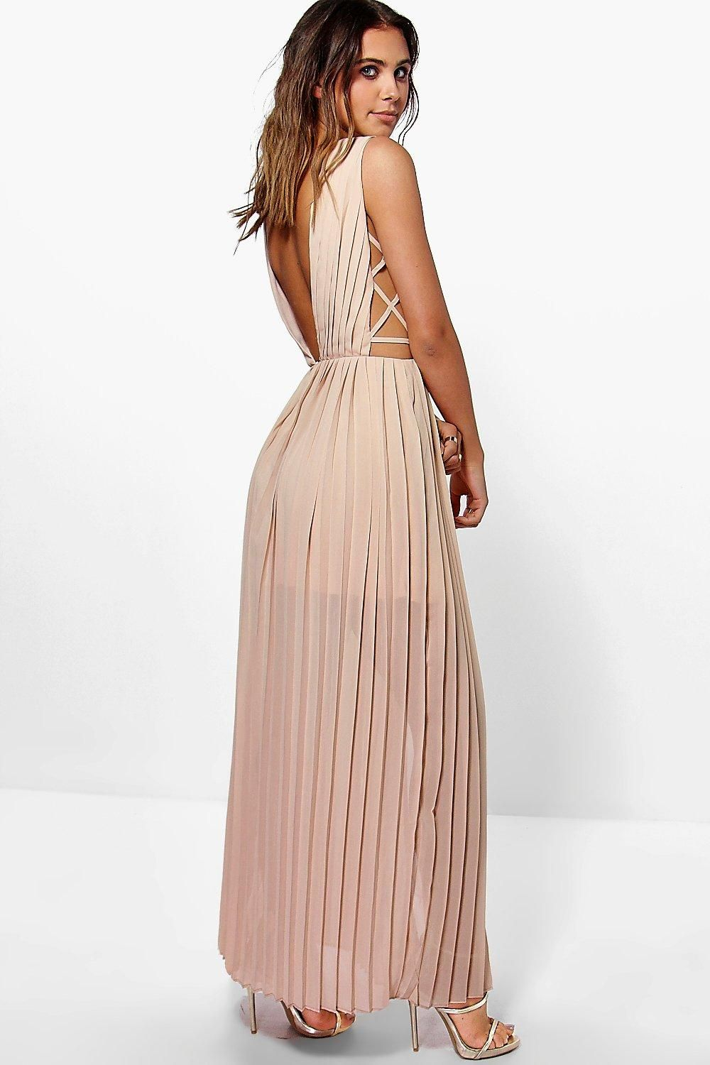 04dfee4498eb ... Pleated Strappy Side Maxi Dress. boohoo PETITE. Serving up the same  statement styles in scaled down sizes, boohoo Petite is your port of call  for ...