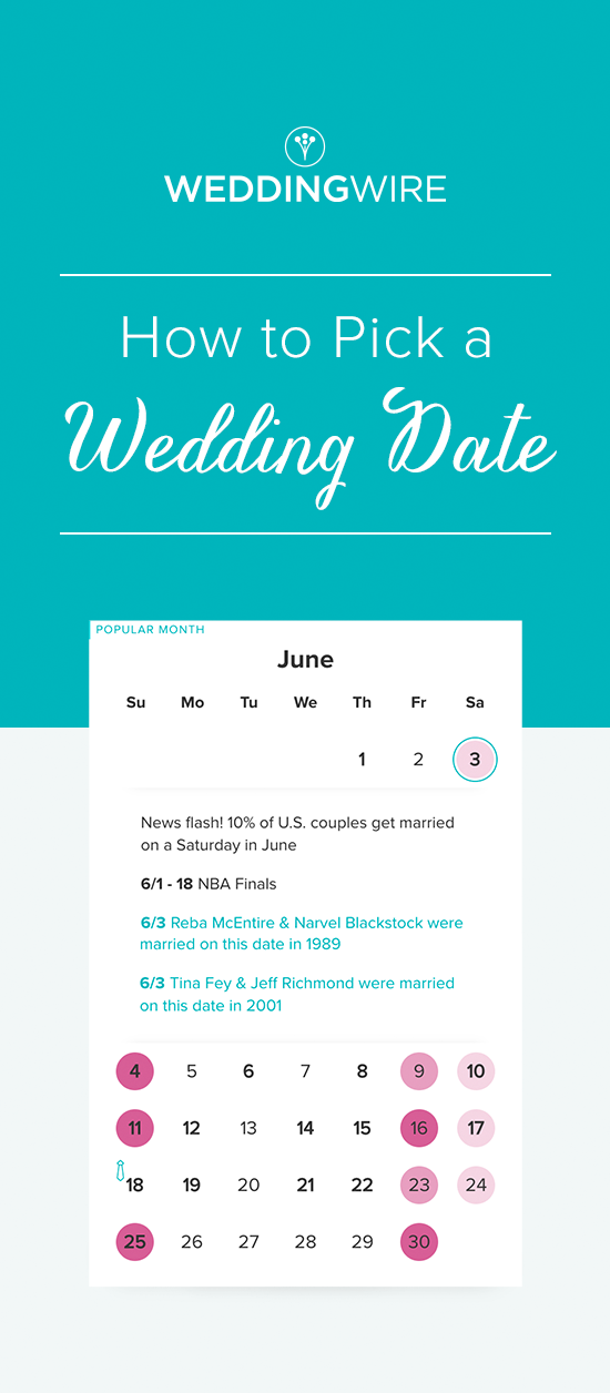 Get help picking your wedding date! @WeddingWire has tons of ...