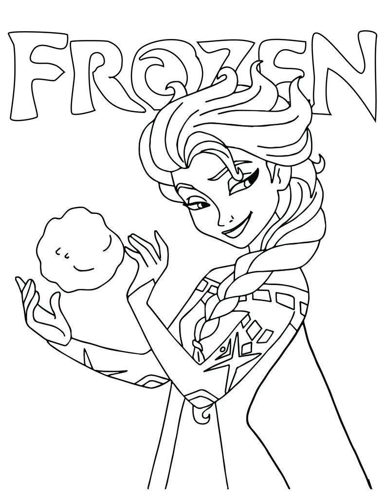 Princesse Elsa Disney Frozen Dessin A Imprimer Mermaid Coloring