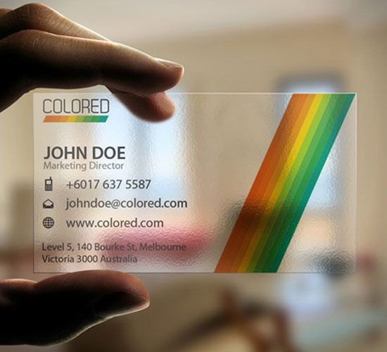 An Awesome Collection Of Transparent Business Card Examples That Will Blow You Transparent Business Cards Business Card Design Creative Business Cards Creative