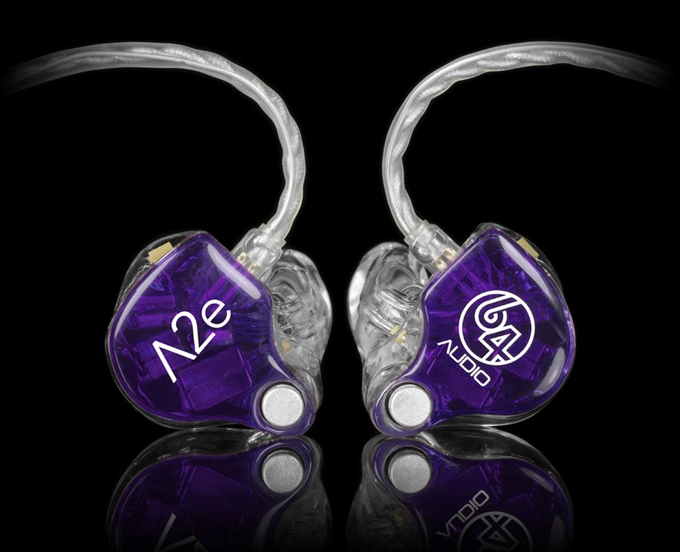 64 Audio A2e The A2e Features The Innovative Apex Technology Apex Air Pressure Exchange Is An Enhanced Version From The Previ In Ear Monitors Ear Earphone
