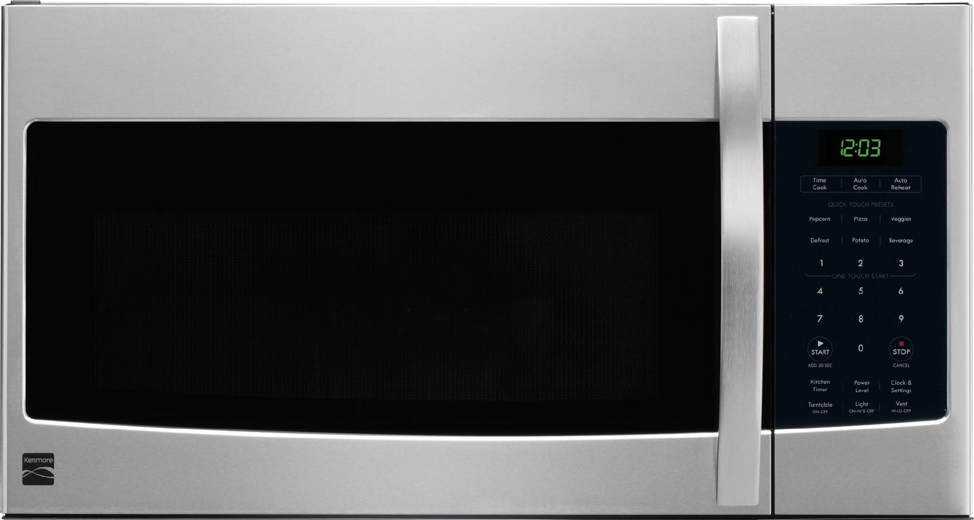 80323 Kenmore Over The Range Microwave 1 6 Cu Ft 1000