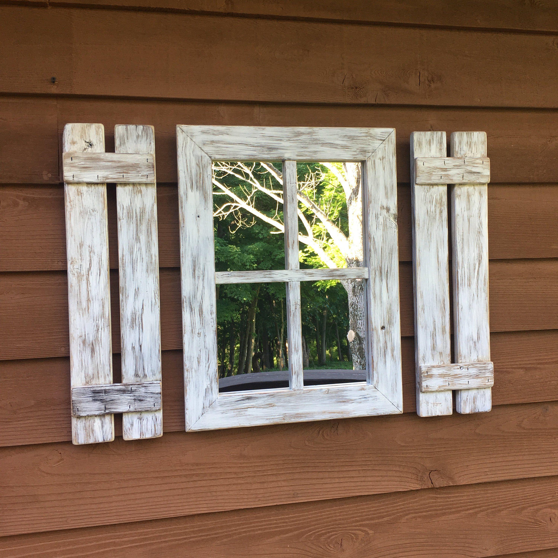 Shutter Mirror,farmhouse decor,cabin,lake house,beach